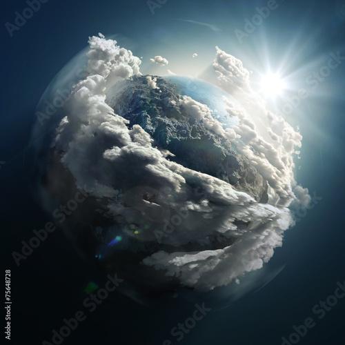 Fotografie, Obraz  sunrise over the earth