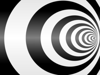 Fototapeta 3D tunel czarno biały abstrakcja