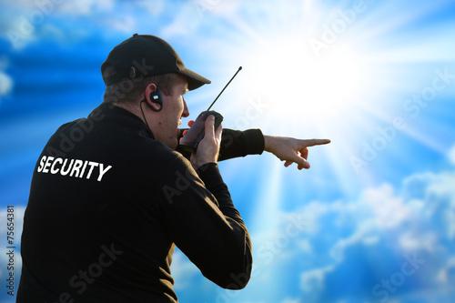 back of a security guard Fototapeta