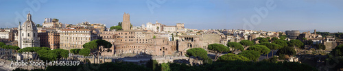 Photo Panoramic view of the forum of Trajan in Rome Italy