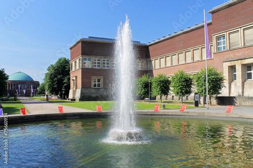 Autocollant pour porte Fontaine Fontäne vor dem Kunstpalast - Düsseldorf