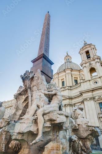Fotografia, Obraz  Piazza Navona (Navona Square) in Rome, Italy