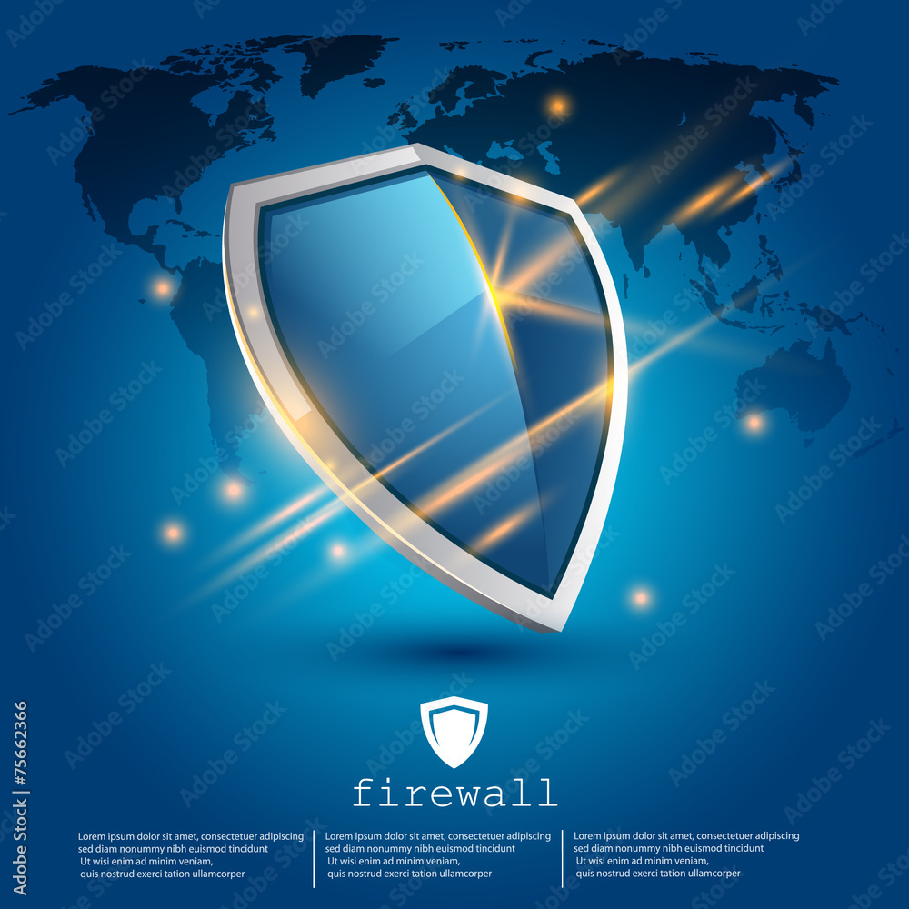 Fototapeta firewall shield