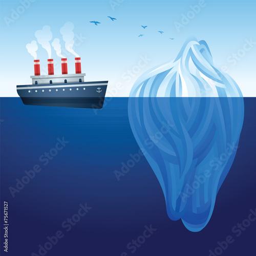 Photo  Ship and Iceberg