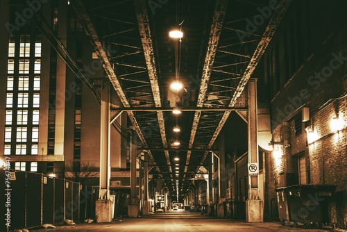 Keuken foto achterwand Chicago Chicago City Train Bridge