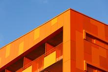 Orange Wall And Windows Of An ...