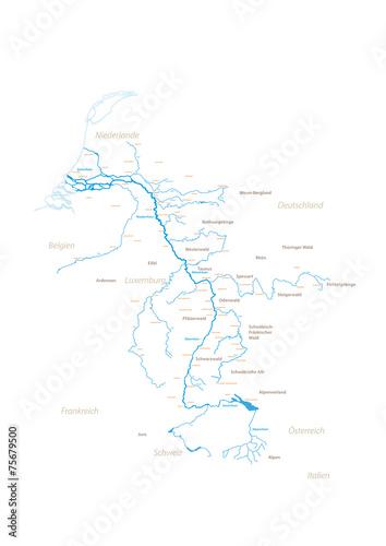 Valokuva  Rhein und Umgebung