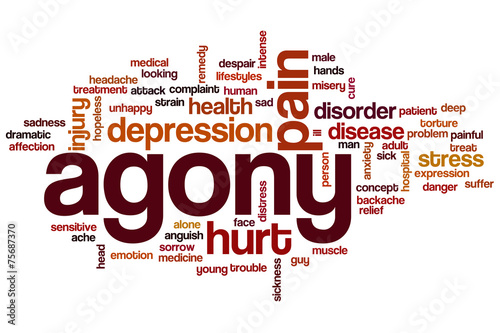 Photo Agony word cloud