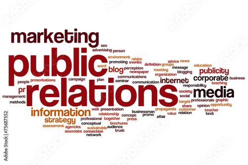 Fotografía  Public relations word cloud