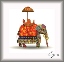 Indian Elephant Illustration. ...