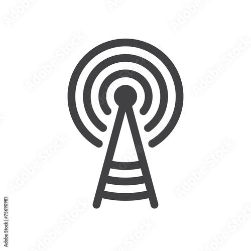 Billede på lærred Transmitter tower icon