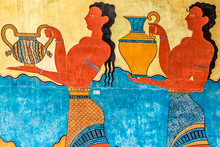 Procession Fresco At Knossos P...