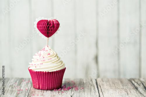 Photo  Valentine cupcake