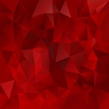 Vector Polygonal Background Triangular Design Dark Red