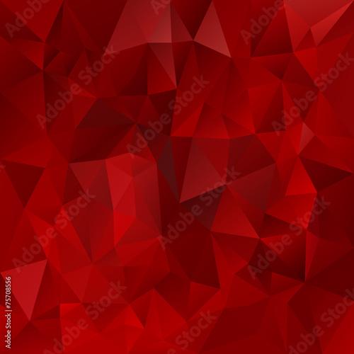 Cuadros en Lienzo  vector polygonal background triangular design dark red
