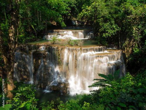 Fototapety, obrazy: Waterfall at Huay Mae Khamin National Park, Thailand