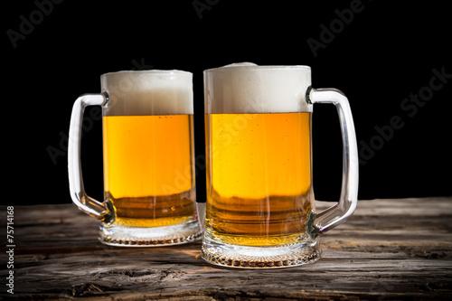 Fényképezés  Still life with a draft beer