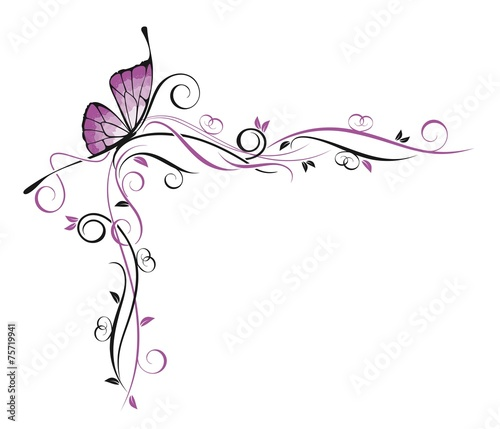 Декор с бабочкой #75719941