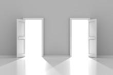 Two Doors With Copyspace, 3d Render