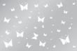 Yellow-rose butterflies on grey wallpaper gradient