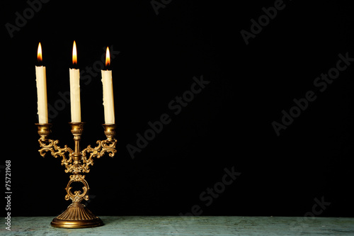 Foto Retro candlestick with candles