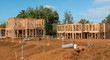construction site and timber houses