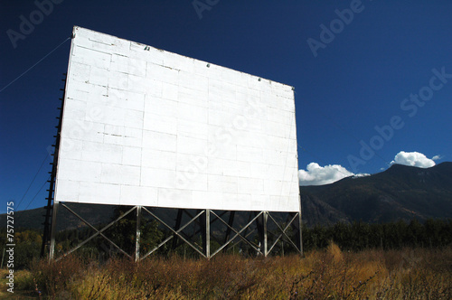Photo  Abandoned Drive-In Theatre Screen