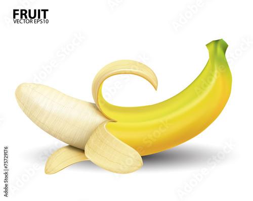 Fotografie, Obraz  banana on white background.vector