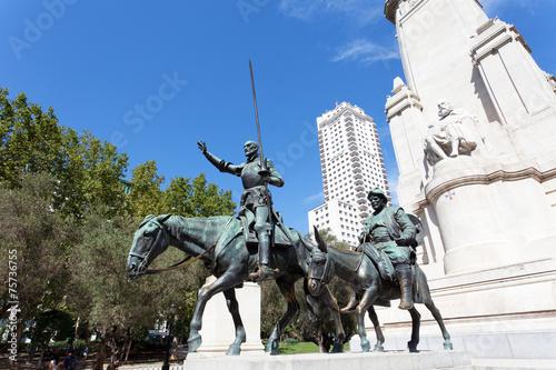 Photo  Madrid. Monument to Cervantes,  Spain