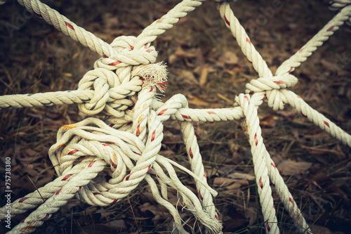 Fototapeta  vintage rope mesh