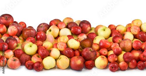 Fototapeta many apples on a white batskground closeup obraz