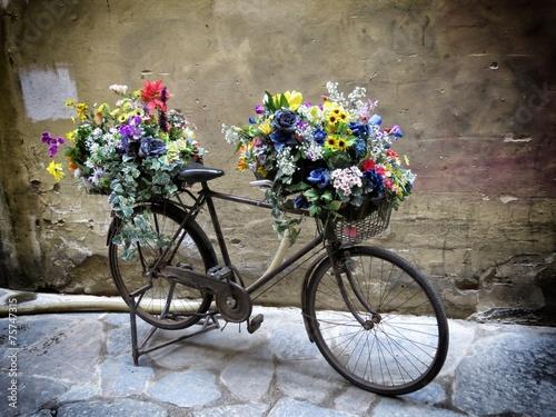 Foto op Plexiglas floreal bicycle