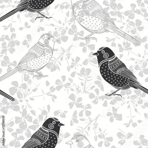 tekstura-z-motywem-ptakow