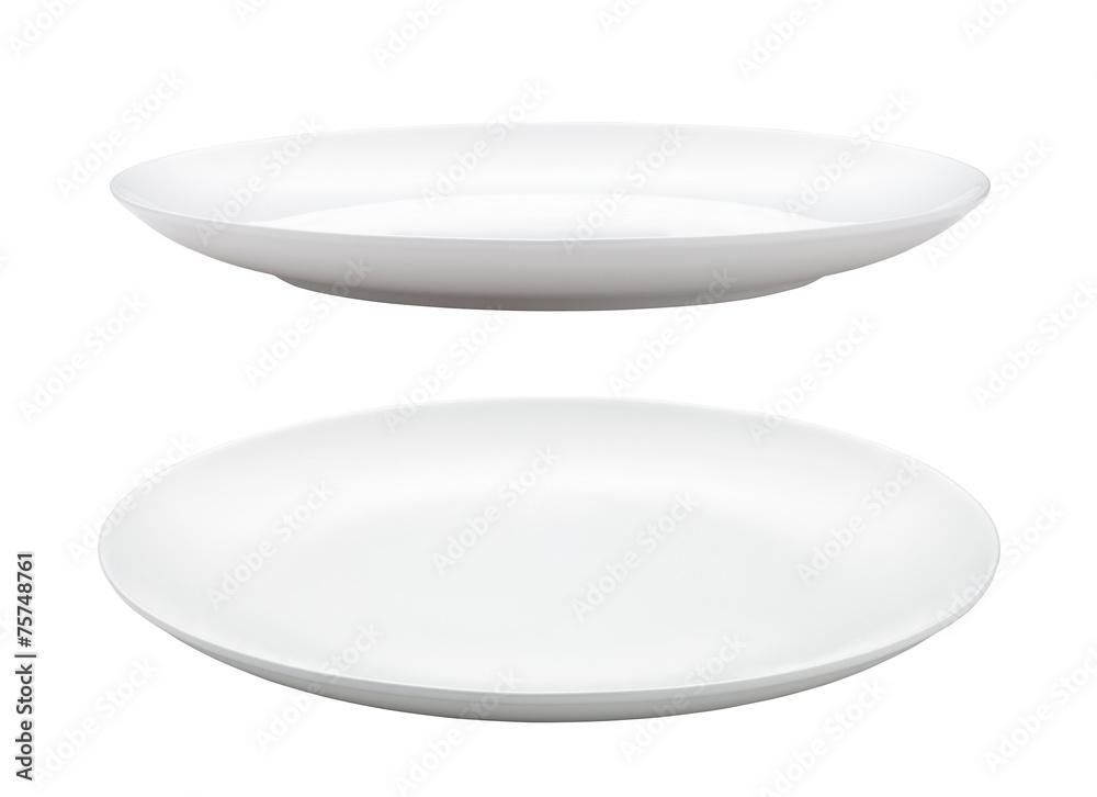 Fotografie, Obraz empty plate isolated on white