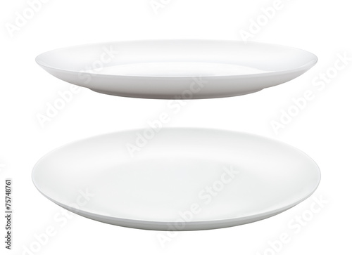 Obraz na plátně empty plate isolated on white