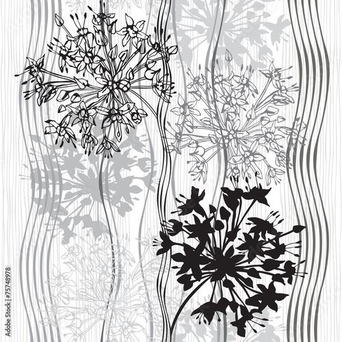 monochromatyczny-bezszwowy-wzor-abstrakcjonistyczni-kwiaty-recznie-rysowane-flor