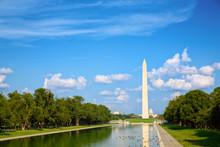 Washington Monument At National Mall In Washington, DC