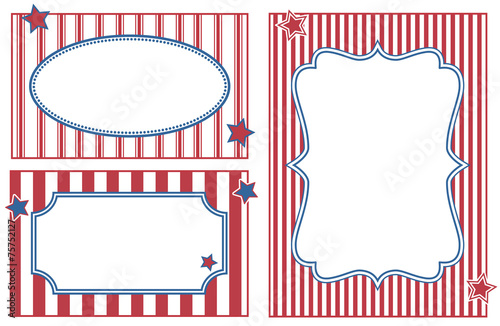 Patriotic or celebration striped frames. - Buy this stock vector and ...