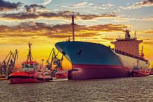 Big Ship With Escorting Tugs L...