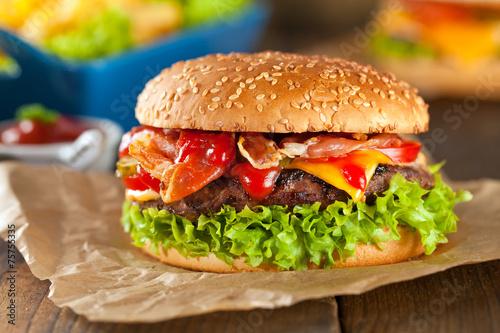 Fototapety, obrazy: Burger