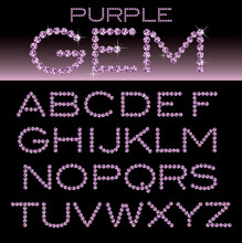 Purple Alphabet Gem