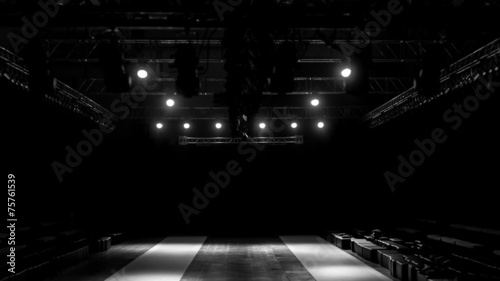 Obraz Fashion show stage, empty runway show stage. - fototapety do salonu
