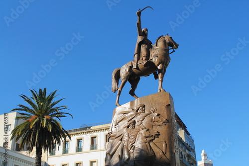 Poster Algérie Place de l'Emir Abdelkader, Alger
