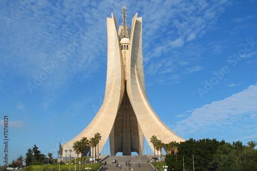 Poster Algérie Mémorial du Martyr à Alger, Algérie