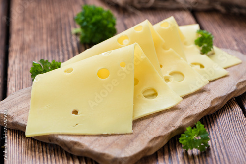 Fotografie, Obraz  Sliced Cheese