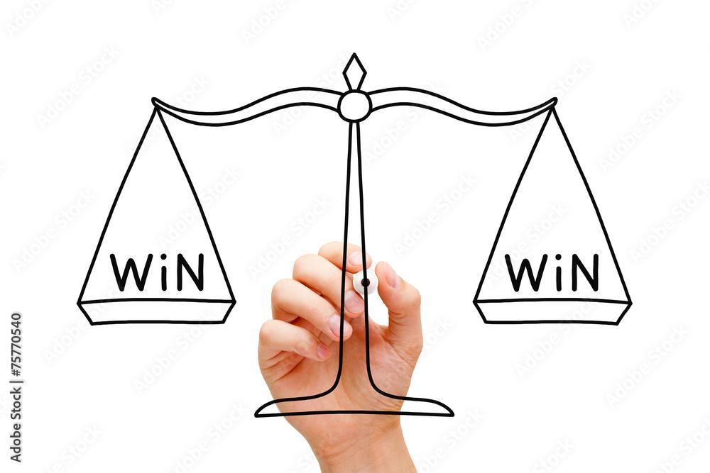 Valokuva Win Win Scale Concept