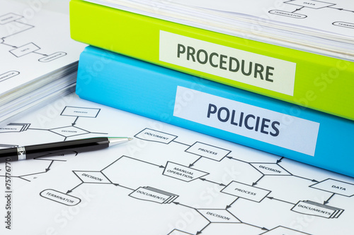 Valokuva  Policies and procedure documents for business