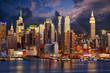 Manhattan Midtown skyline at twilight, New York
