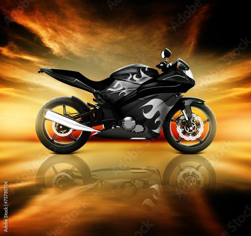 obraz lub plakat Motocykl Motocykl Rower konna Rider Współczesna Koncepcja