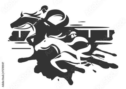 Cuadros en Lienzo Horse racing